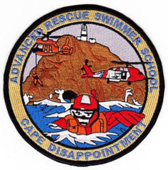 United States Coast Guard Advanced Rescue Swimmer School Military Patch CAPE DISAPPOINTMENT
