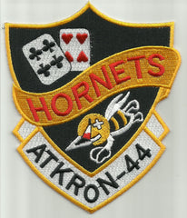 NAVY ATTACK SQUADRON 44 VA-44 ATKRON 44 MILITARY PATCH - HORNETS