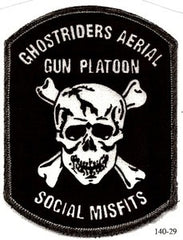 ARMY 160th SOAR Ghostrider Aerial Gun Platoon SOCIAL MISFITS Military Patch