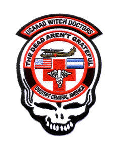 ARMY 1st Battalion 228th Aviation Air Ambulance Military Patch WITCH DOCTORS DUSTOFF CENTRAL AMERICA SKULL