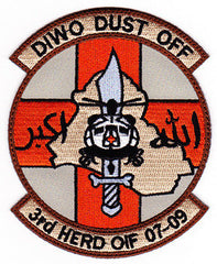 US ARMY DIWO DUSTOFF 3rd HERD OIF 07-09 MILITARY PATCH
