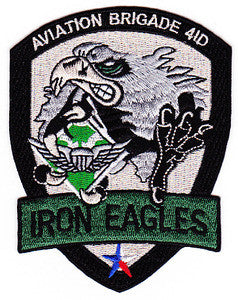 ARMY Aviation Brigade 4th Infantry Division Military Patch IRON EAGLES