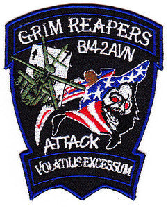 ARMY 4th Battalion 2nd Attack Aviation Regiment Air Cavalry General Support Aviation Battalion Military Patch GRIM REAPERS VOLATILISEXCESSUM