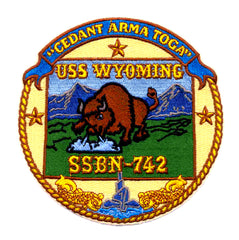 SSBN-742 USS Wyoming Patch Nuclear Submarine Insignia Military US Navy