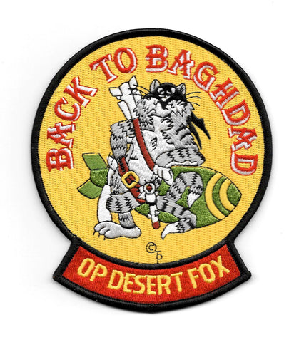 TOMCAT Operation Desert Fox F-14 Back To Baghdad Patch
