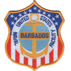 NAVAL FACILITY BARBADOS MILITARY PATCH