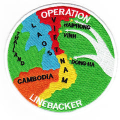 OPERATION LINEBACKER NORTH VIETNAM Military Patch