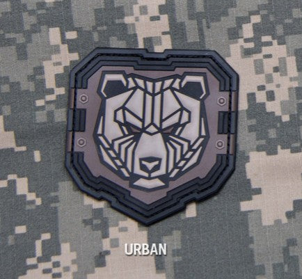 INDUSTRIAL BEAR SWAT PVC HOOK MILITARY PATCH