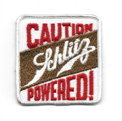 CAUTION Schlitz POWERED! Rockabilly Biker Vintage 70s patch