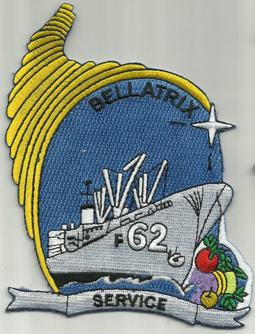 AF-62 USS Bellatrix Alstede-Class Stores Ship Military Patch  SERVICE