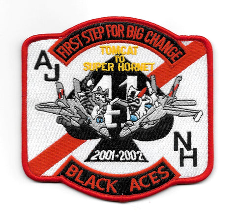 VF-41 TOMCAT to SUPER HORNET Black Aces Patch