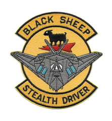 F-117 STEALTH DRIVER 8FS BLACK SHEEP USAF PATCH