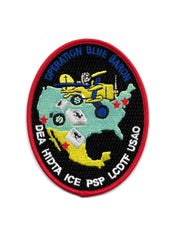 Operation Blue Baron DEA HIDTA ICE PSP LCDTF USAO Collectors Patch