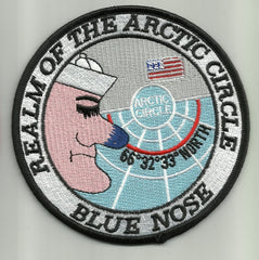 Navy Crossing of the Arctic Circle Military Patch REALM OF THE ARCTIC CIRCLE BLUE NOSE