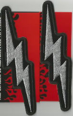 2 METALLIC LIGHTNING BOLT PATCHES