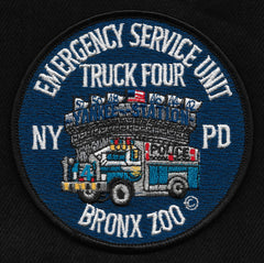 NYPD Truck 4 Emergency Service Unit Collectors Patch - BRONX ZOO