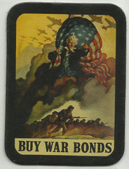 BUY WAR BONDS UNCLE SAM WWII POSTER LEATHER PATCH