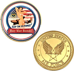 USAF Keep 'em Flying! Buy War Bonds! Challenge Coin