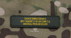 C4 PROBLEM TACTICAL COMBAT MORALE PVC HOOK PATCH - PROBLEM SOLVER