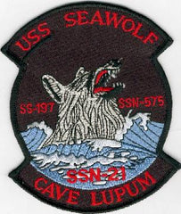 SSN-21 USS Sea Wolf Attack Submarine Insignia Military Patch US Navy