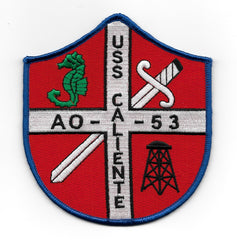 AO 53 USS CALIENTE REPLENISHMENT OILER MILITARY PATCH