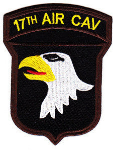 ARMY 17th Airborne Cavalry Regiment 101st Airborne Division Military Patch 17TH AIR CAV