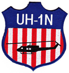 Bell UH-1N Huey Helicopter Shield Military Patch