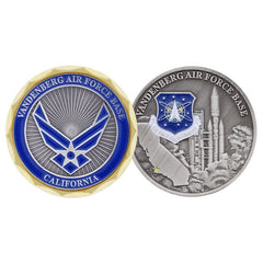 Space Command Vandenberg Air Force Base AFB California Challenge Coin