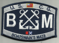 United States COAST GUARD USCG DECK RATING Boatswain's Mate Military Patch - BM