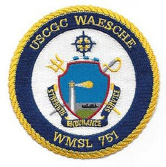 United States COAST GUARD WMSL-751 USCGC WAESCHE Legend-Class National Security Cutter Military Patch STRENGTH ENDURANCE SERVICE