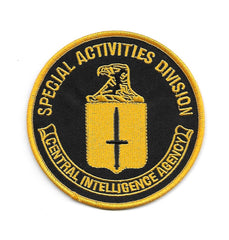 Central Intelligence Agency CIA Special Activities Division SAD Collectors Patch - Black