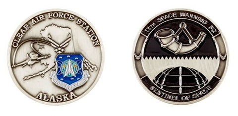 13th Space Warning SQ - Clear Air Force Station Alaska Challenge Coin