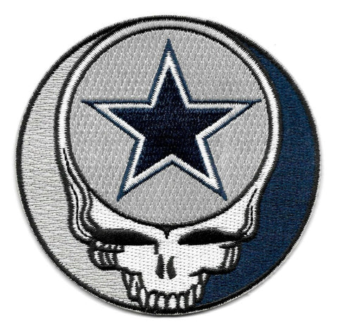 Steal Your Face Cowboys Dead Head Skull Patch