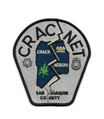 CRACNET San Joaquin County DEA Police Patch