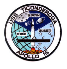 NASA National Aeronautics and Space Administration SP-27C Apollo16 CVS-14 USS Ticonderoga Mission Patch IN SPATIUM IN MARE IN CAELESTIS