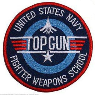 United States NAVY Fighter Weapons School TOP GUN Military Patch