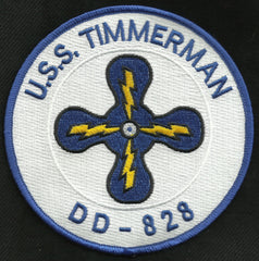 DD 828 USS TIMMERMAN GEARING CLASS DESTROYER SHIP MILITARY PATCH