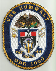 DDG-1000 USS ZUMWALT Navy Guided Missile Destroyer Military Patch PAX PROPTER VIM