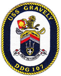 DDG-107 USS GRAVELY Navy Guided Missiles Destroyer Military Patch FIRST TO CONQUER