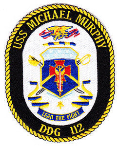 DDG-112 USS MICHAEL MURPHY Light Guided Missile Destroyer Military Patch LEAD THE FIGHT