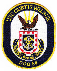 DDG-54 USS Curtis Wilbur Guided Missile Destroyer Military Patch PRODENS POTENS PATRIA