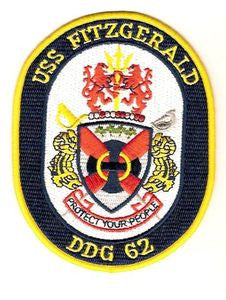 DDG-62 USS Fitzgerald Guided Missile Destroyer Military Patch PROTECT YOUR PEOPLE