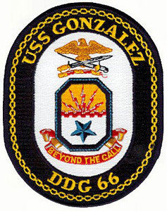 DDG-66 USS Gonzalez Navy Guided Missile Destroyer Military Patch BEYOND THE CALL