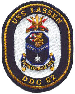 DDG-82 LASSEN Navy Guided Missile Destroyer Military Patch FROM COURAGE LIFE