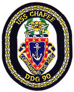 DDG-90 USS Chafee Guided Missile Destroyer Military Patch COMMANDING THE SEAS
