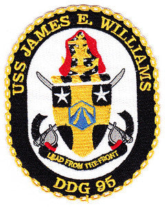 DDG-95 USS JAMES E WILLIAMS Navy Guided Missile Destroyer Military Patch LEAD FROM THE FRONT