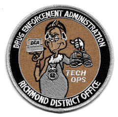 Drug Enforcement Administration DEA Richmond District Office Collectors Patch