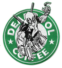 Deadpool Coffee Morale Patch (Velcro or Iron On)