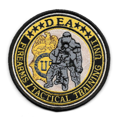 DEA Firearms Tactical Training Police Patch