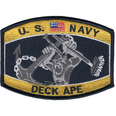 DECK APE Navy Ratings MOS Hat Patch